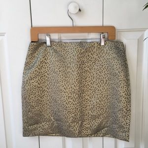 Banana Republic jacquard mini skirt